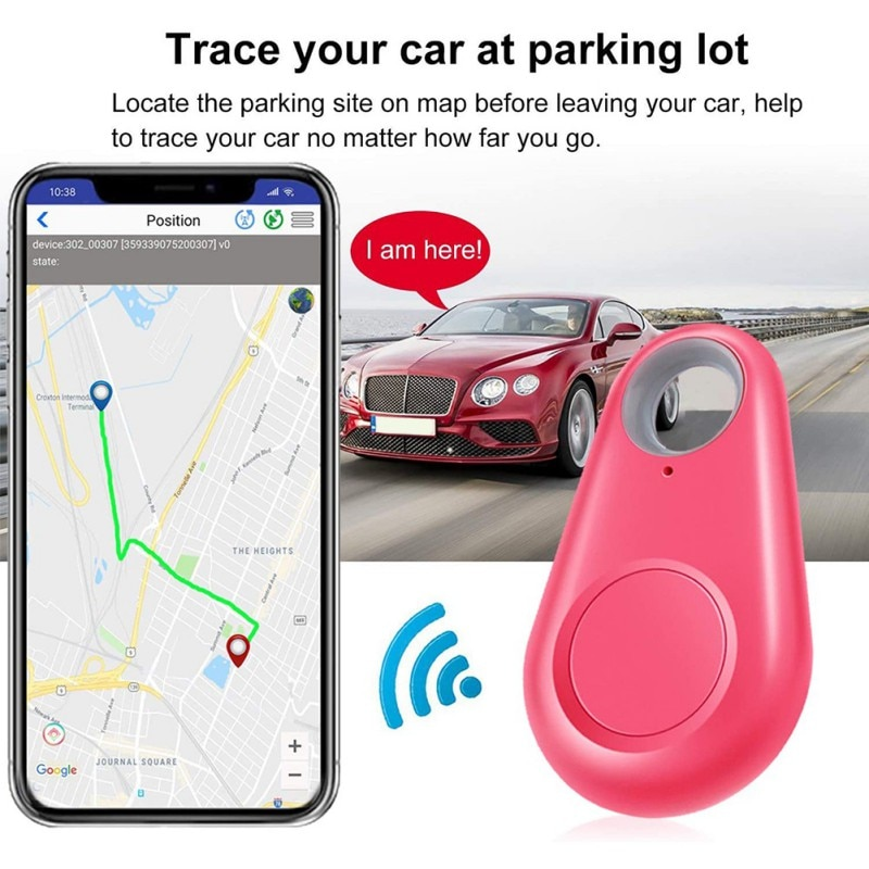 Intelligent GPS Bluetooth Tracker Key Locator App Control Compatible Wireless Anti Loss Alarm Sensor Equipment