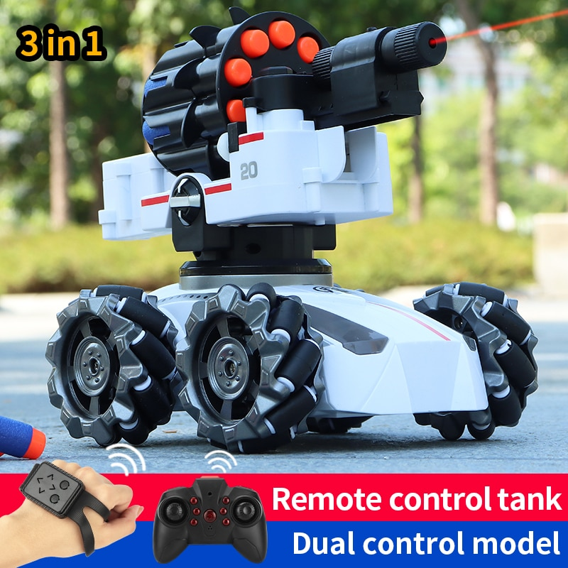 RC 4WD Tank Water Bomb Shooting Competitive Car Remote Control Toys Big Tank Remote Control Off-road