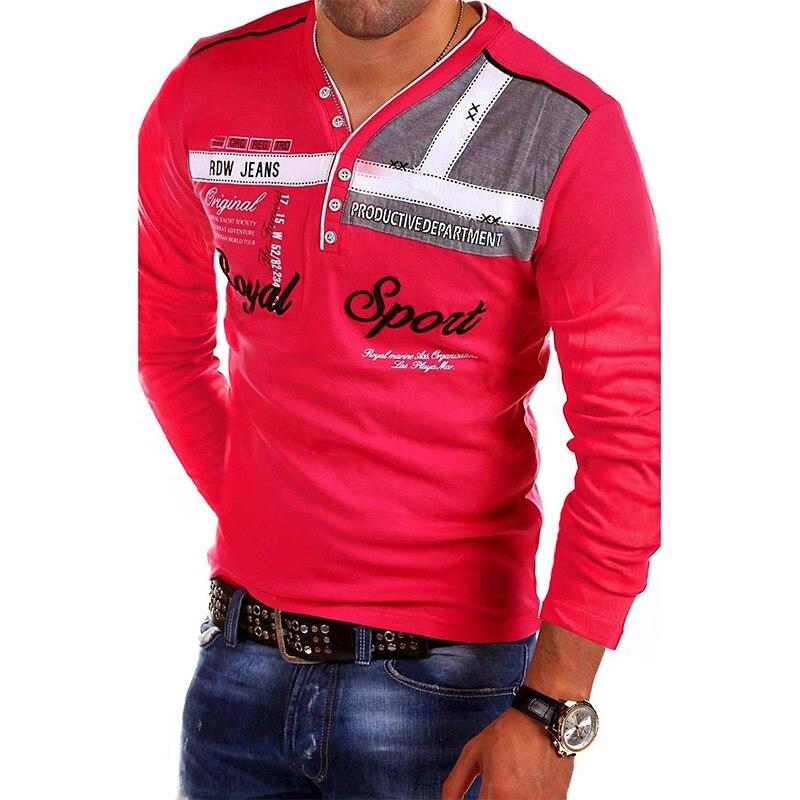 Мужская хлопковая футболка ZOGAA, повседневная Приталенная футболка с длинными рукавами разных цветов, быстросохнущая, 2020