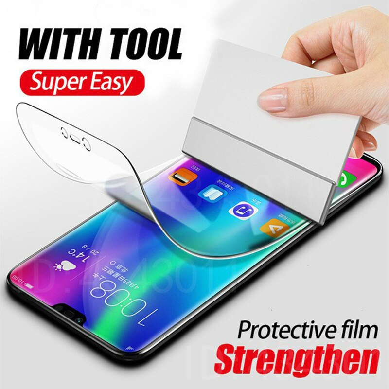 Película de TPU de hidrogel suave para Samsung Note 10 Plus Note10 + M30S M30 A30S A50S A10S A10E Protector de pantalla completa nano Film (no vidrio)