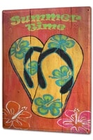 tin sign clothes fashion summer time flip flips flowers