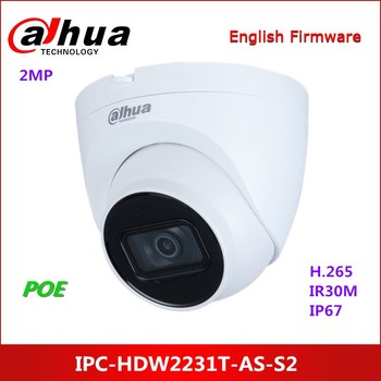 Dahua 2MP WDR IR Eyeball Network Camera IPC-HDW2231T-AS-S2 Built-in IR LED IP Camera