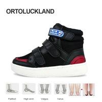 Ortoluckland Toddler Boys Sneakers Kids Orthopedic Sport Running Shoes For Children Leisure Corrective Flatfoot Walking Footwear