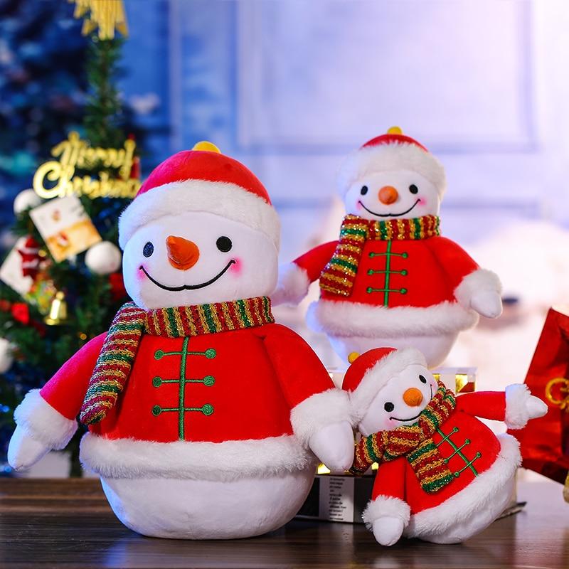 Stuffed Plush Toy Christmas Snowman Plush Doll Christmas Day Decoration Children's Gifts Plush Santa Claus Plush Toys fennell clare santa s 12 days of christmas