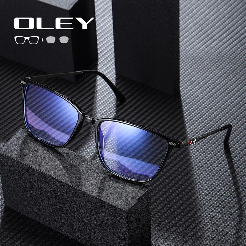 OLEY Women Glasses Frame Fashion Male Square eyeglasses anti-blue Myopia Prescription Eyeglasses cus