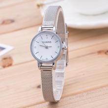 Diamond Women Ladies Silver Stainless Steel Mesh Band Waterproof Wrist Watch Luxury Small Dial stude