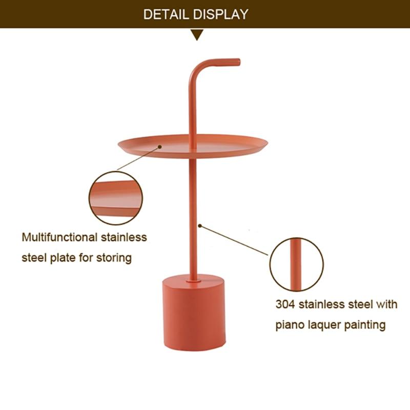 أثاث المنزل الحديثة تصميم المعادن طاولة مستديرة طاولة وحدة التحكم لحديقة غرفة نوم غرفة المعيشة