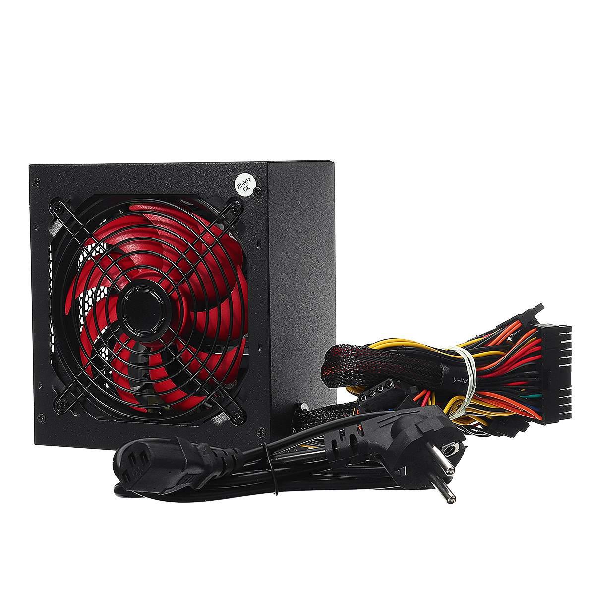 ATX 20/24pin 12V PC ordenador SATA Gaming PC fuente de alimentación pasiva PFC ventilador silencioso 650W fuente de alimentación