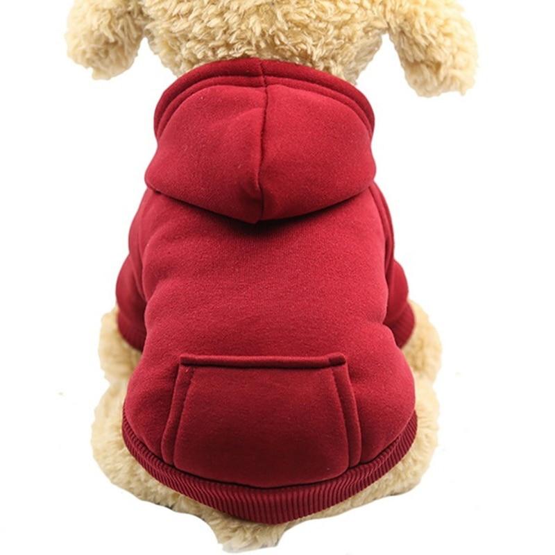Security Dog Clothes Small Dog Hoodie Coat Pet Coat Soft Fleece Warm Puppy Clothes Dog Sweatshirt Winter Dog Clothes XS-2XL