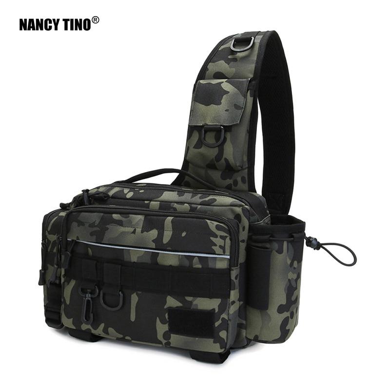 NANCY TINO Fish Lures Bag Multifunctional Tackle Bags Single Shoulder Crossbody Bag Waist Pack Fishing Gear Utility Storage 1Pcs