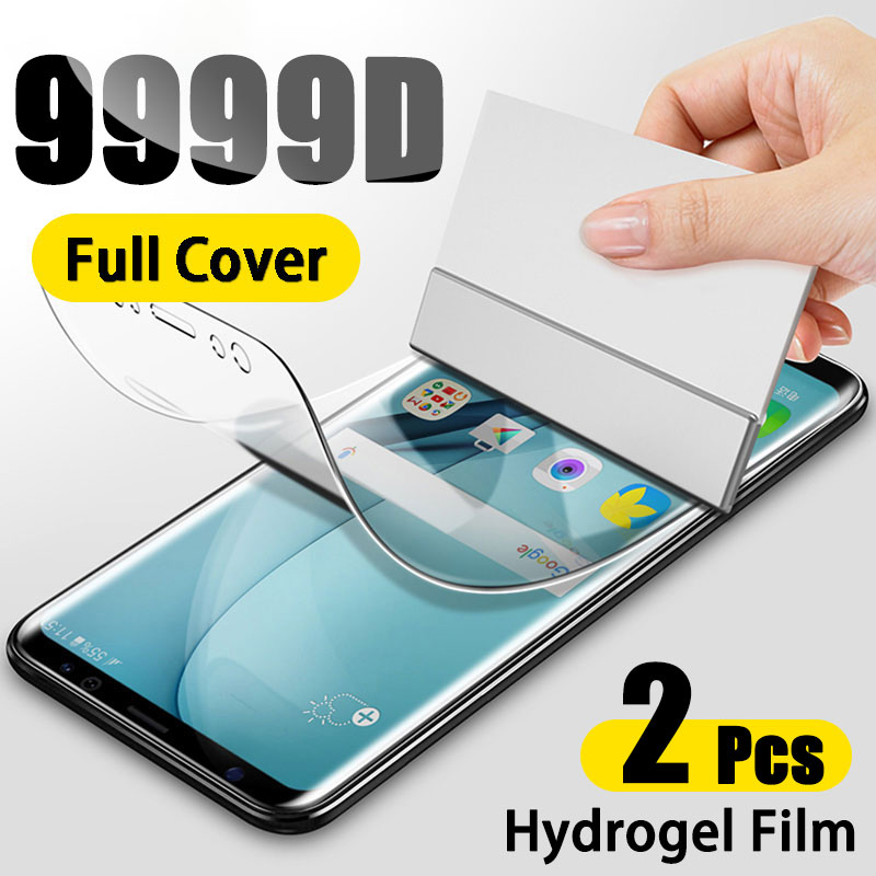 screen protector for samsung galaxy s10 plus s10e 360 full protection hd hydrogel 3 in 1 front film back film camera lens glass Hydrogel Screen Protector For Samsung Galaxy S10 S10E S9 S8 S20 Plus Full Cover Protective Film For A51 A50 A70 A71 Not Glass