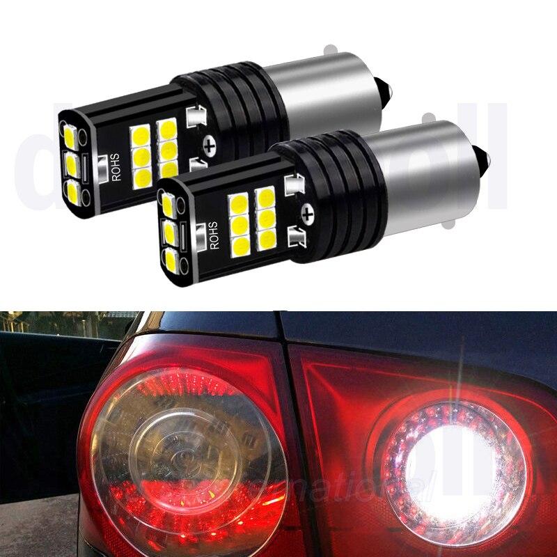 2x BA15S Автомобильный светодиодный фонарь для VW Passat B5 B6 ,Canbus Auto P21W 1156 светодиодный фонарь заднего хода или W5W клиновидный фонарь для Passat 01-10