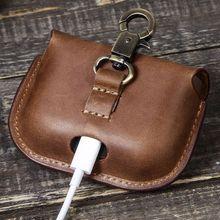 Pochette de rangement en cuir Portable pour accessoires SONY WF-1000XM3 Q39D