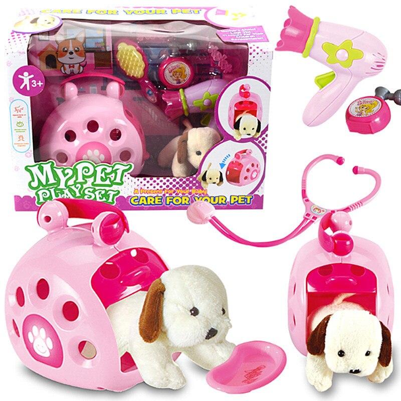 brinquedo para cosplay de animais de estimacao conjunto de brinquedos para cuidado
