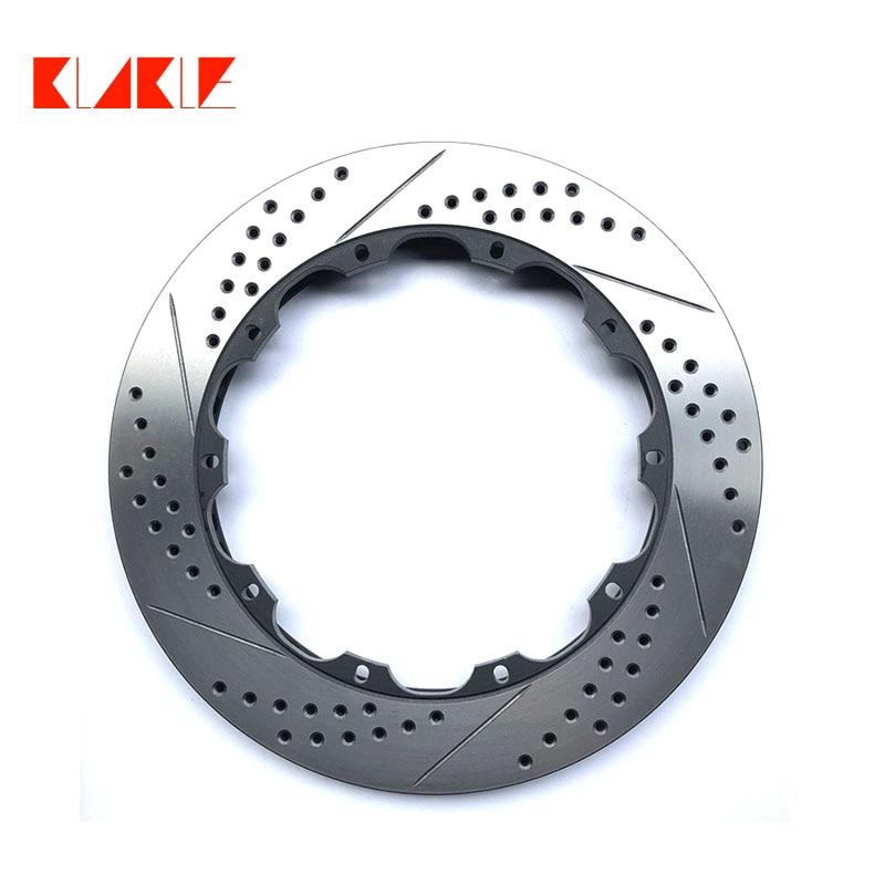 KLAKLE مصنع تعزيز طول العمر أفضل الفرامل الدوار حفر ومشقوقة قرص فرامل لسباق الفرامل الفرجار لاند روفر