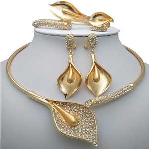 Kingdom Ma New High Quality Dubai Gold Big Jewelry Sets For Women Nigerian Wedding African Costume Bridal Jewelry Sets