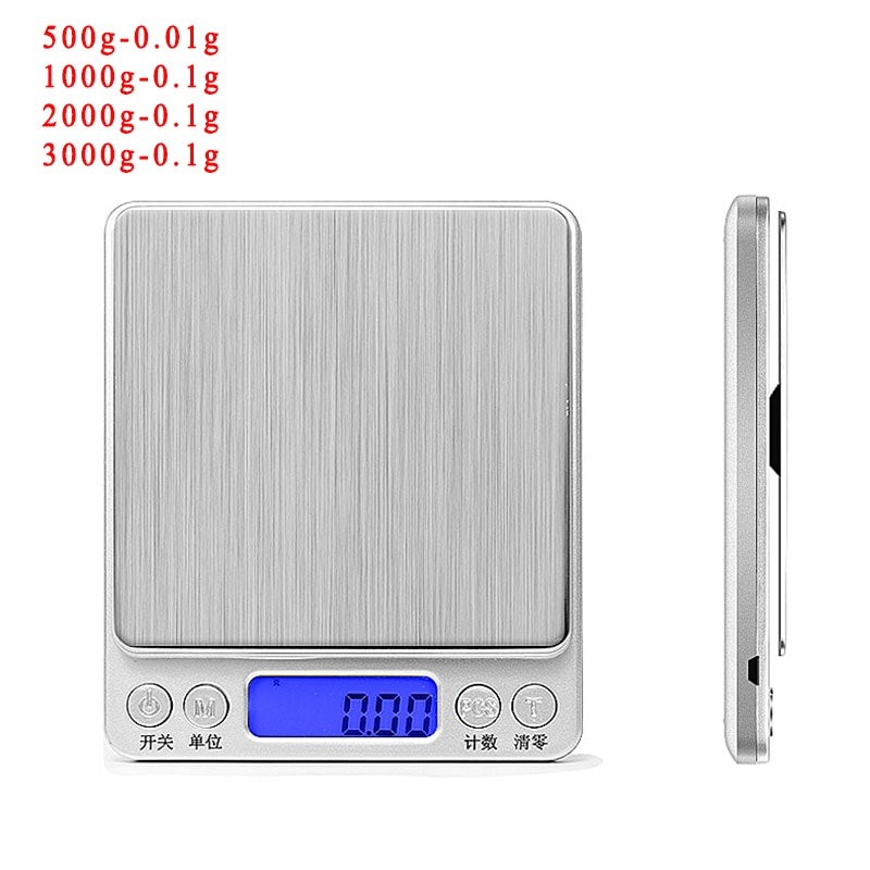 500/0.01g 3kg/0.1 LCD PORTABL ELECTRON SCALE Digital Scales Mini Scale Pocket Jewelry Weight Balance Food Kitchen Scale SHIPPING