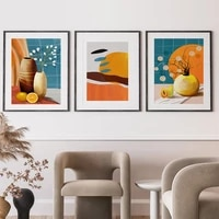 plant oil painting vase still life wall painting abstract art canvas painting living room corridor home decoration mural