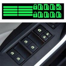 Autocollant lumineux pour interrupteur de vitre de voiture, pour SAAB 93 95, pour alfa romeo gilikta alfa romeo 147 159 156