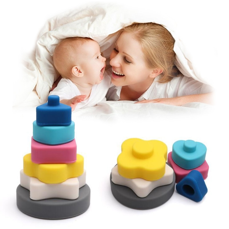 Baby Stacking Nesting Rings Toy Building Stacker Interactive Games for Toddler