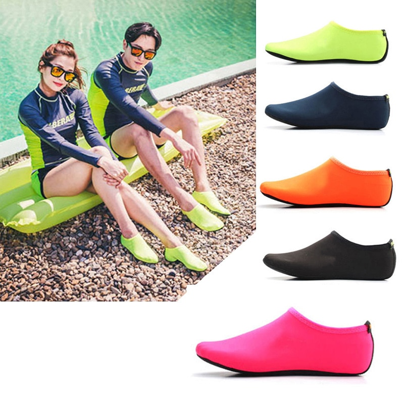 Unisex Diving Shoes Barefoot Water Sports Skin Shoes Aqua Socks Beach Shoes Sand Swimming Anti-Skid