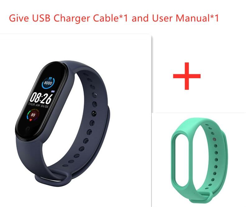 M5 Smart Sport Band Fitness Tracker Pedometer Heart Rate Blood Pressure Monitor Bluetooth Smartband Bracelets Men Women