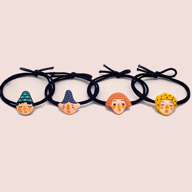 1pc colorful little girl hair rope ribbon bows elastic hair rubber bands kids ponytail holder children hair accessories ties gum 4 Style Cartoon Character Elastic Hair Bands Children Ponytail Holder Rubber Bands Headband Ties Gum For Kids Hair Accessories