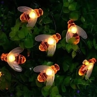 christmas light solar powered bee led string fairy light 20leds 50leds outdoor garden fence patio christmas lights garland decor