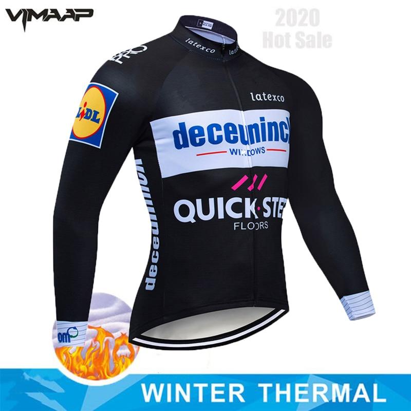 Quick step-ropa térmica de lana para ciclismo para hombre, Maillot para bicicleta...