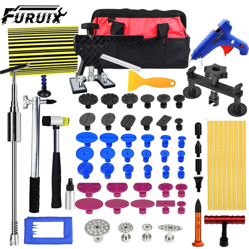 FURUIX Tools Car Body Paintless Dent Repair Removal Tool Kit Golden Puller Lifter Pulling hand tools set