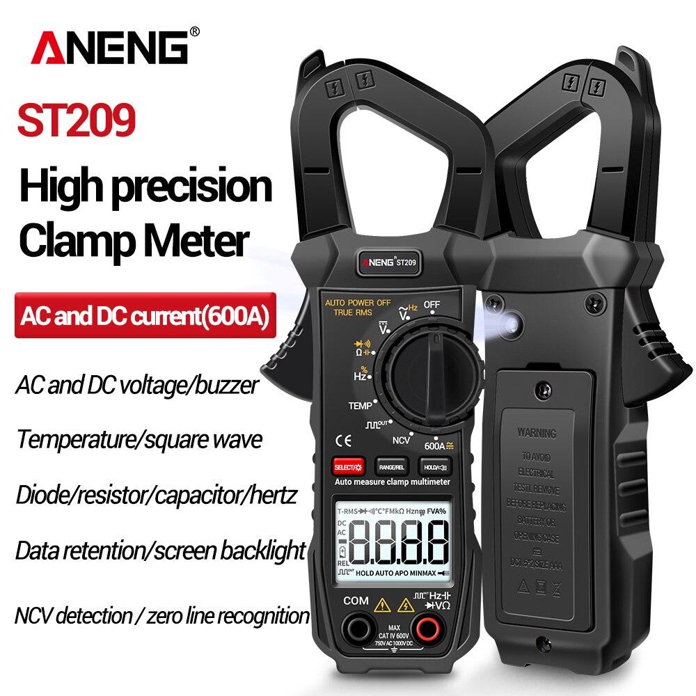 ANENG-مقياس متعدد احترافي ST209 ، رقمي ، True RMS ، تيار مستمر/تيار متردد ، 6000 عد ، مقياس جهد ، نطاق تلقائي