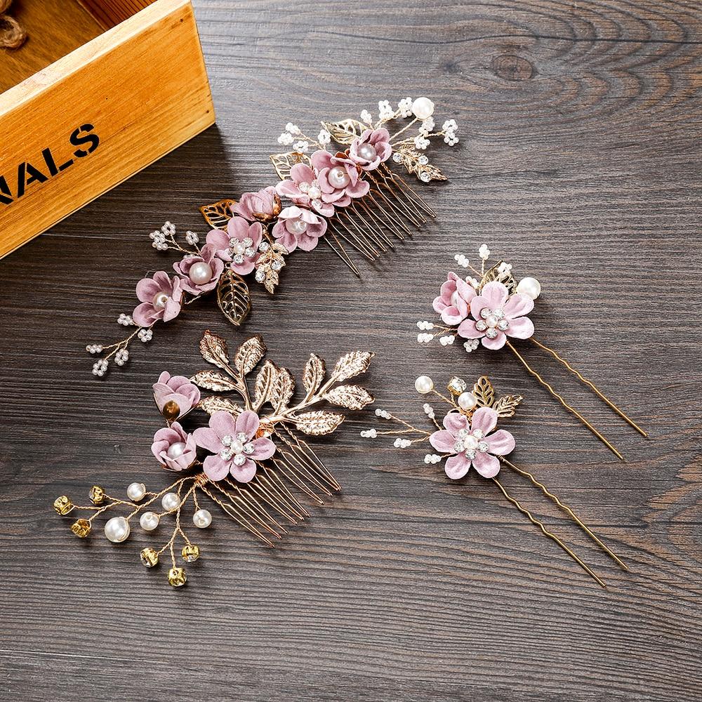 Luxe haarspeld voor vrouwen kammen hoofdtooi prom bruids bruiloft - Bruiloft accessoires - Foto 3