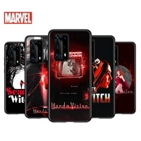 soft tpu cover scarlet witch cute art for huawei p40 p30 p20 pro p10 p9 p8 lite ru e mini plus 2019 2017 black phone case