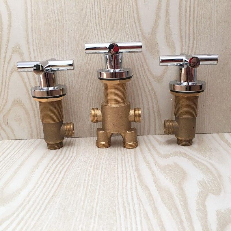 MTTUZK الصلبة النحاس الكروم إنهاء حوض الاستحمام الباردة الساخن التحكم في المياه حمام دش خلاط صنبور حوض استحمام 5 حفرة الحنفية التبديل صمام