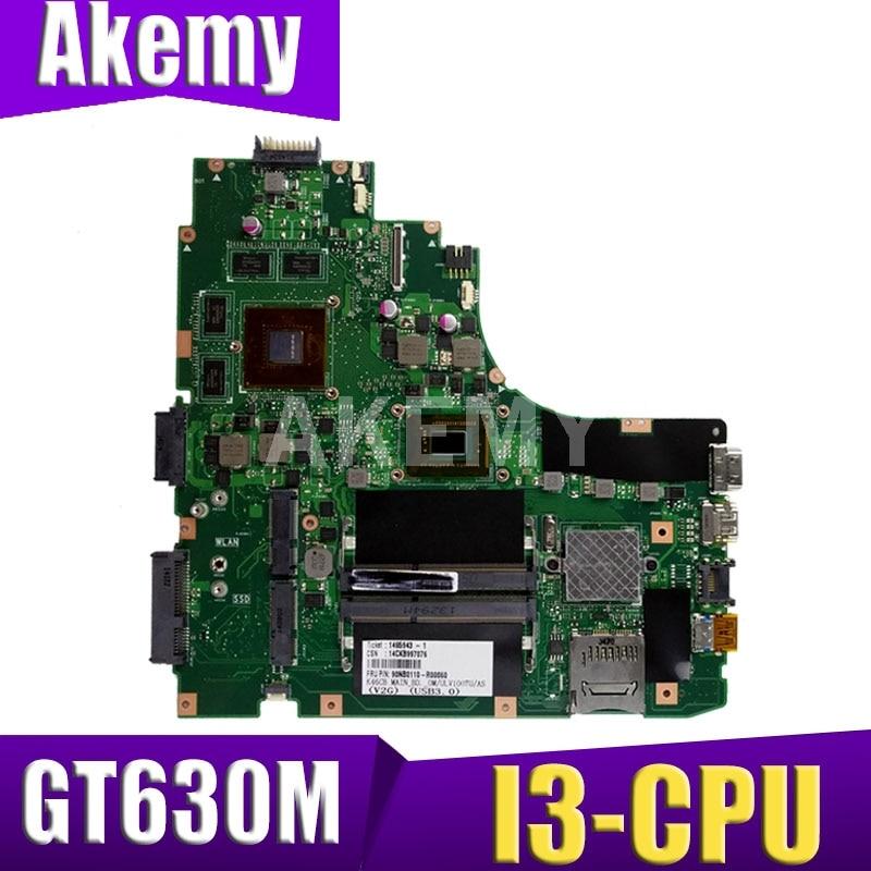 Xinkaidi k46cb/k46cm placa-mãe do portátil para asus k46cb k46cm k46c k46 teste original mainboard i3 cpu gt630m