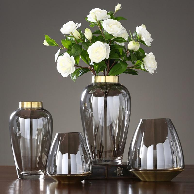 Modern Simple Glass Vase Creative Fashion Hydroponics Home restaurant  desktop flower vase Flowerpot  Home Soft Decoration