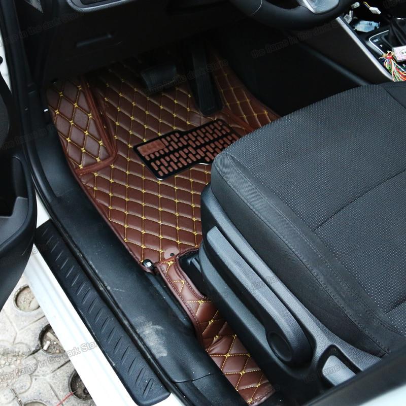 lsrtw2017 leather car interior floor mats for kia niro 2016 2017 2018 2019 2020 carpet accessories rug pad mat auto matten cover