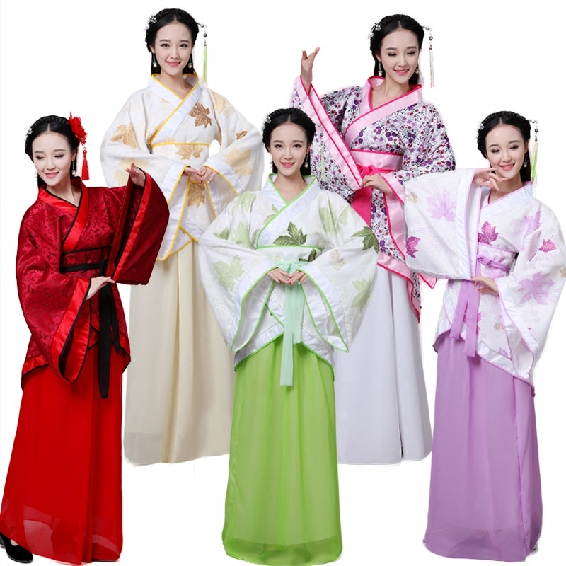 2021 Chinese National Dance Costume Ancient Cosplay Lady Chinese Stage Dress Performance Costume Women Hanfu Clothes недорого