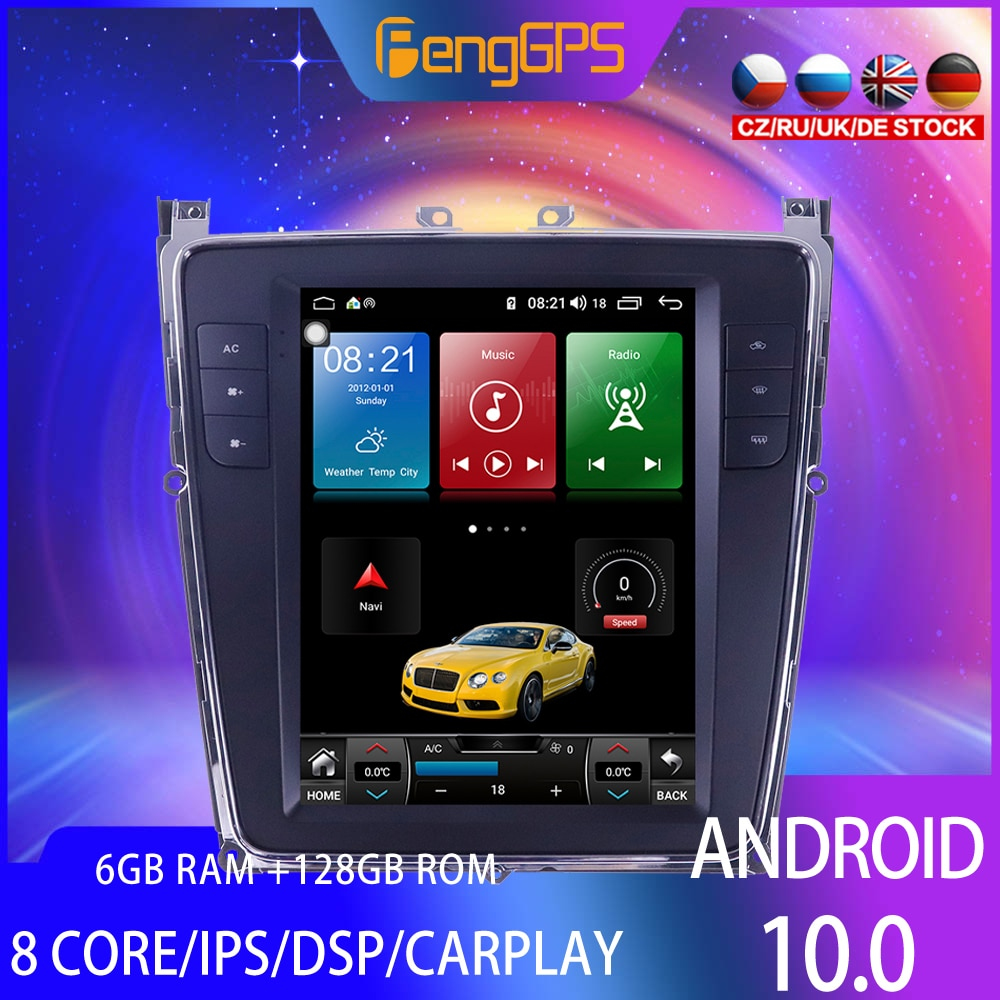 128G Tesla Style Screen For Bentley GT Supersports Fly Spur Car Radio Multimedia Video Player Navigation GPS Android 10.0 2 din