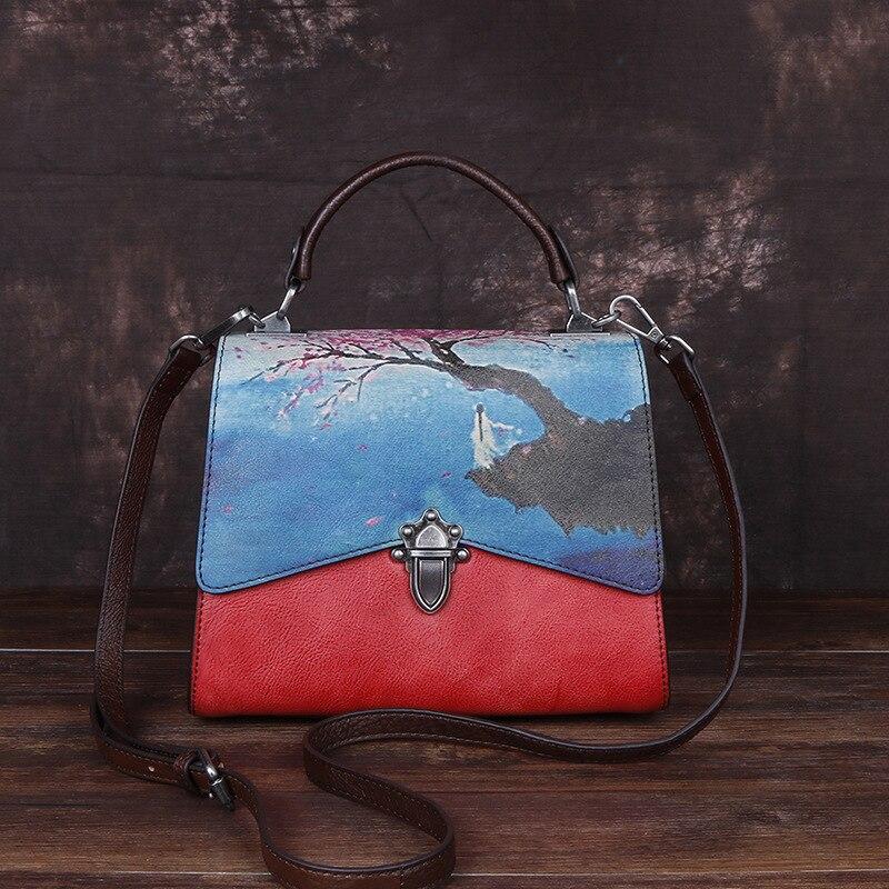 MOTAORA-حقيبة بمقبض علوي عتيق للنساء ، حقيبة كتف من الجلد الطبيعي بتصميم عتيق ، حقيبة كتف ريترو للنساء ، 2021