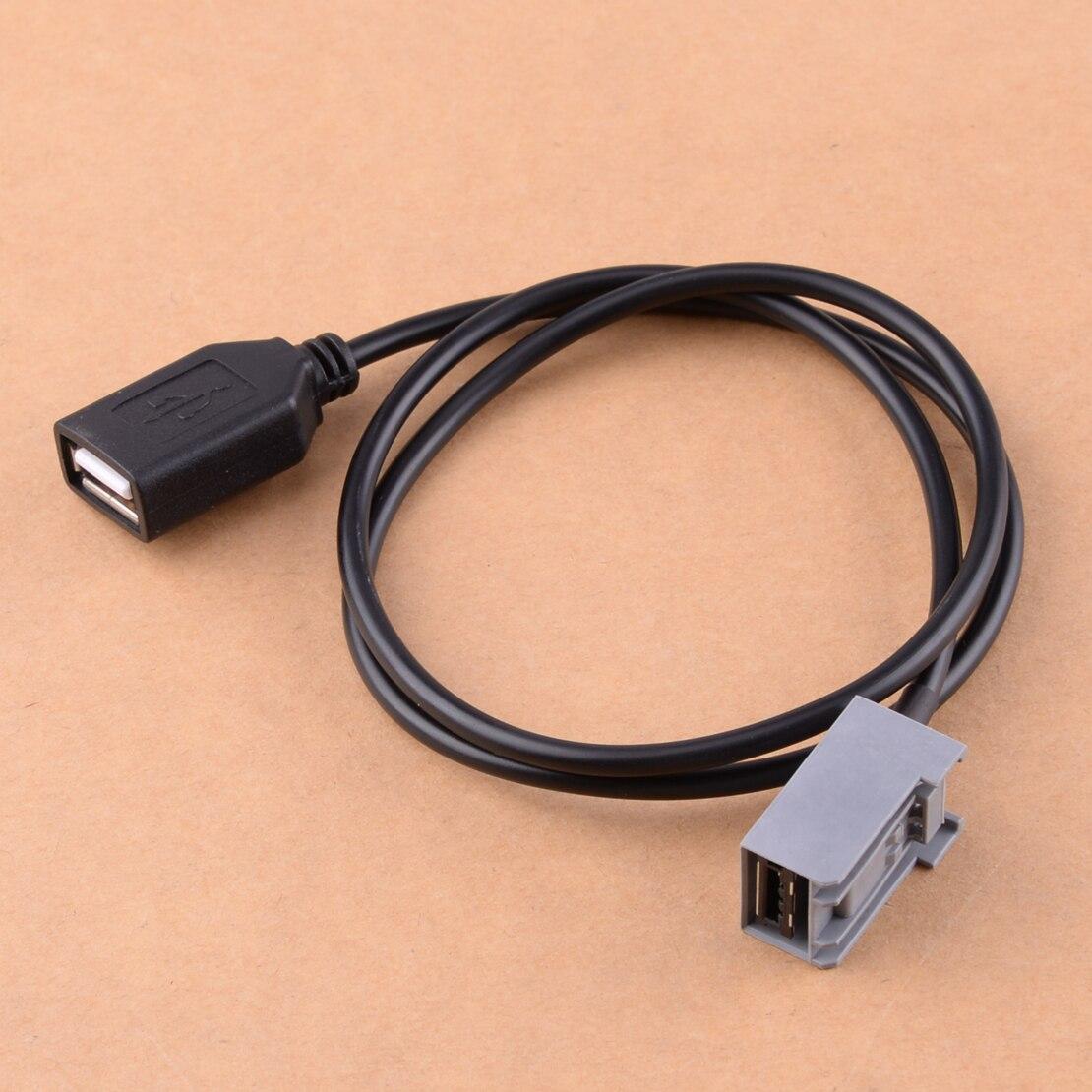 Adaptador de Cable hembra USB para coche, adaptador de puerto auxiliar compatible con Honda Civic Jazz CR-V Accord Odyssey 2009 2010 2011 2012 2013
