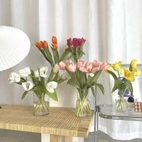 15 pcs feel moisturizing tulips artificial bouquet garden wedding decor christmas home furnishings table decoration photo props