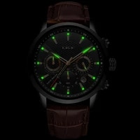 lige 2020 new mens watches top brand luxury male military sport watch men leather waterproof quartz wristwatch relogio masculino
