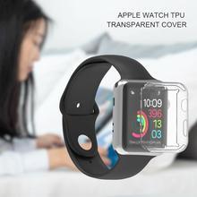 Anti-goutte ProBefit 360 mince housse de montre 38/40/42/44mm doux clair protecteur décran en TPU housse complète pour Apple Watch/2/3/4