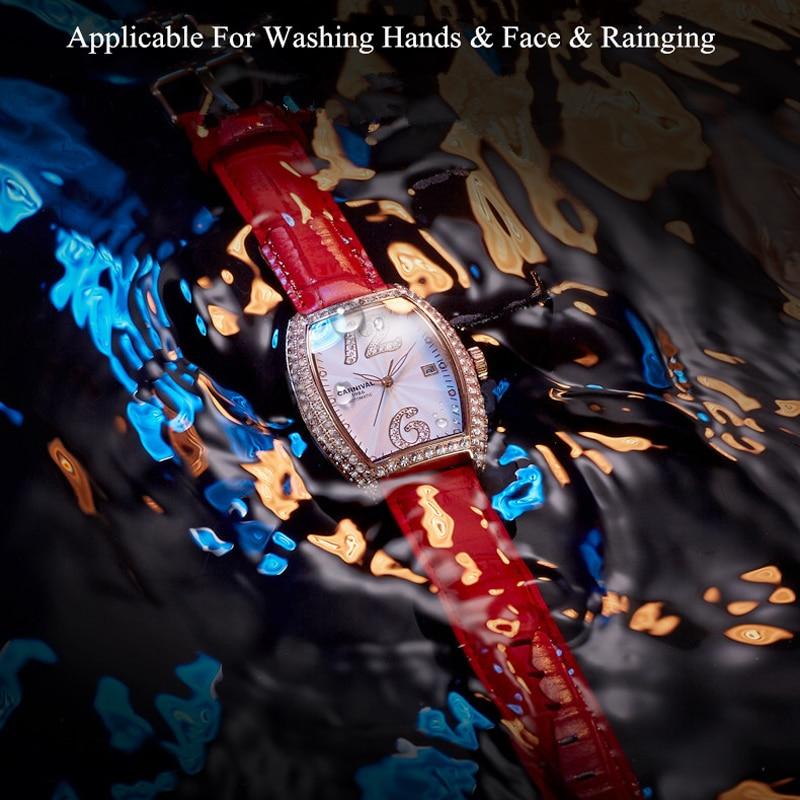 CARNIVAL Brand Women Fashion Gold Automatic Watch Ladies Waterproof Dress Bracelet Mechanical Wristwatch Clock Relogio Feminino enlarge