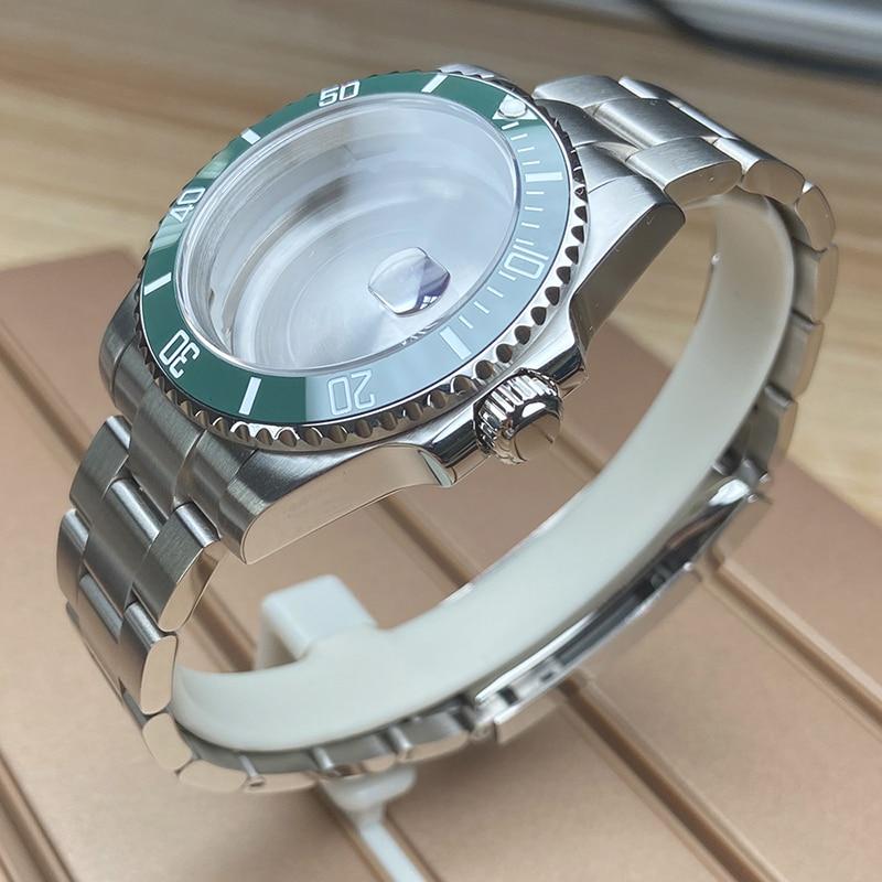 nh35 nh36 miyota 8215 dial movement 40mm stainless steel Men's watch case Sapphire glass 20mm Bracelet strap submariner daytona enlarge