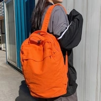 canvas backpack unisex anti theft big school bag women solid laptop casual man women travel bag