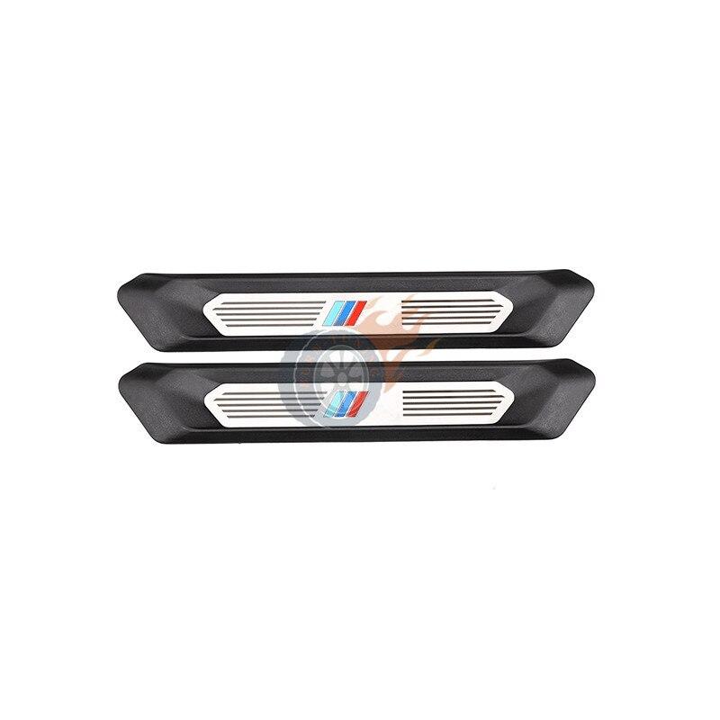 2X سيارة الباب الخلفي جرجر يغطي لسيارات BMW X3 G01 X4 G02 2018 2019 ///M اللون عتبة الباب خطوة حامي لوحة الكسوة اكسسوارات السيارات