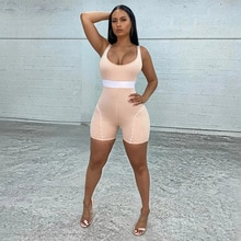 Short Jumpsuit for Women Sexy Solid Color Sleeveless Tank Top Shorts Womens Jumpsuit
