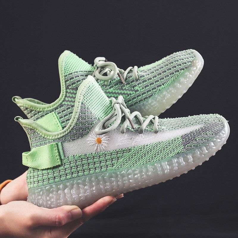 2021 transpirable zapatos de las mujeres y los hombres zapatillas de deporte al aire libre de moda Casual cómodo parejas gimnasio zapatos de hombre tamaño 36-44